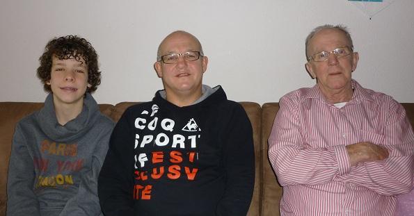 v.l.nr. Wouter, Gerrit en Jaap